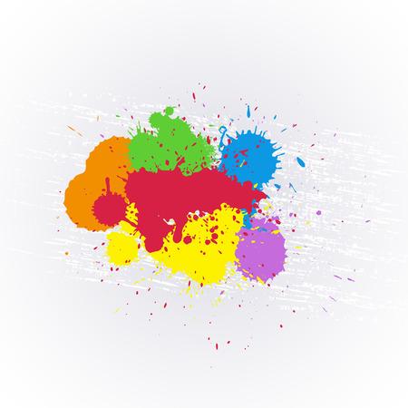 whitewash: Colorful Paint Splashes