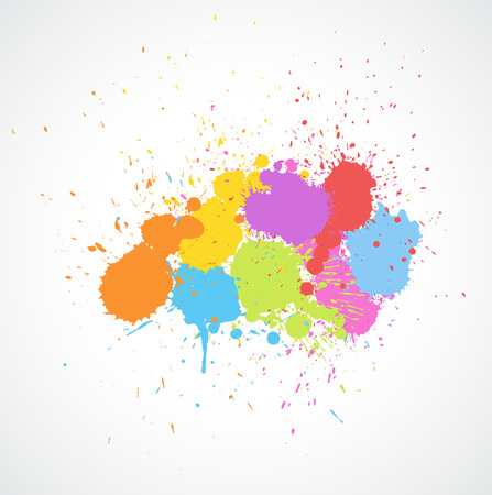whitewash: Colorful Paint Drops Illustration