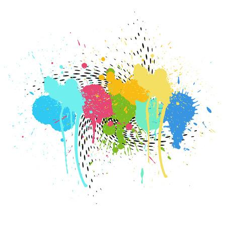 colorful paint: Colorful Paint Drops Halftone Background