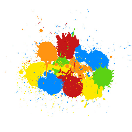 whitewash: Abstract Colorful Paint Drops