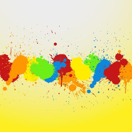 whitewash: Grunge Colorful Stains Background Illustration