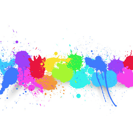 Vector Colorful Drops