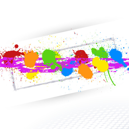whitewash: Abstract Colorful Ink Splashes