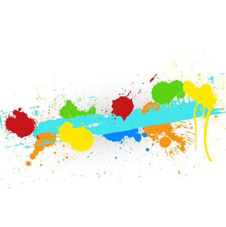 whitewash: Abstract Colorful Ink Splashes Vector