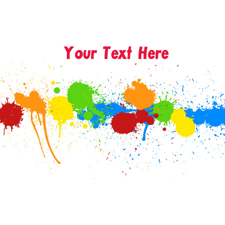 whitewash: Colorful Drops Vector Background