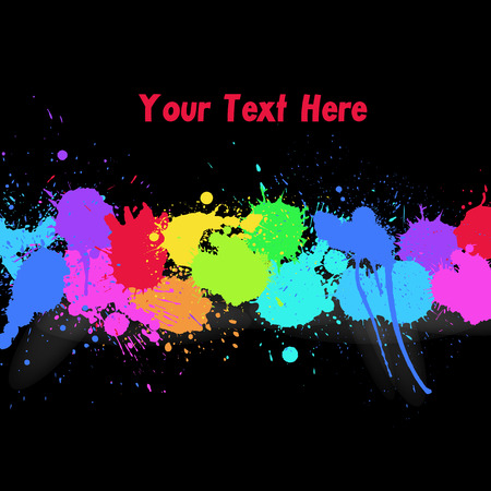 whitewash: Abstract Colorful Drops Banner Illustration