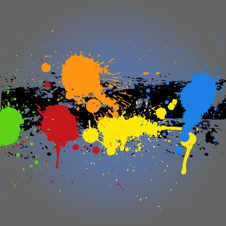 whitewash: Painting Splash Grunge Background Illustration