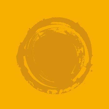 whitewash: Vintage Circle Grunge Banner Illustration