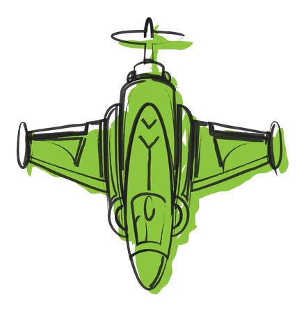 avion chasse: R�sum� Dessin Avion de chasse Vecteur Illustration