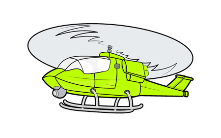 Yellow Helicopter Vector Vector
