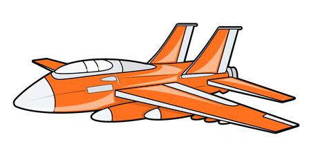 modern fighter: Orange Plane
