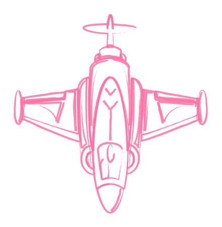 avion chasse: Croquis de Avion de chasse