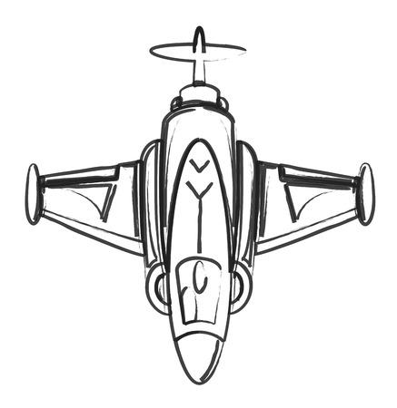 avion chasse: Dessin Art avion de chasse