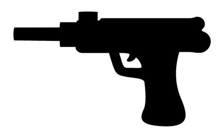 gun silhouette: Gun Silhouette Illustration