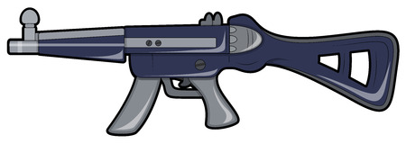 Retro Shooting Gun Illustration