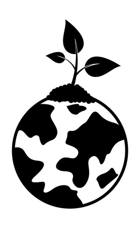 plant growing: Tiny Plant Growing on Earth