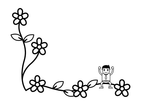 blank space: Man on Flora with Blank Space