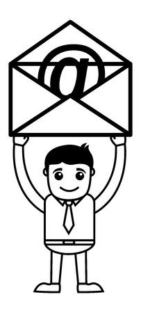 informer: Man Having an E-mail Envelope Illustration