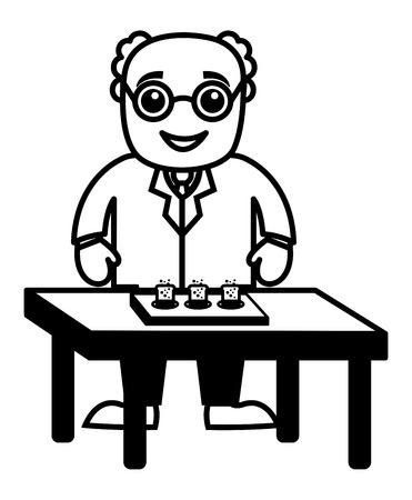 experimentation: Scientist Experimentation Illustration