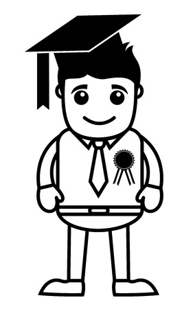 diplom studen: Graduate Student Illustration