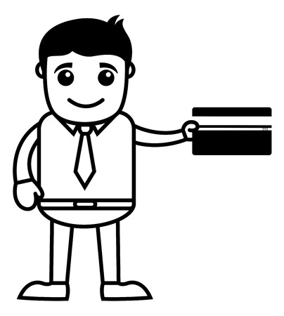 accepted: Credit Card Accepted - Vector Illustration