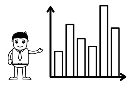 statistic: Man Standing with Statistic Chart