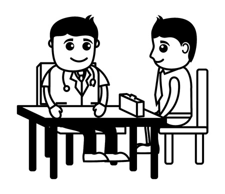 stethoscope boy: Medical Counseling - Cartoon Characters