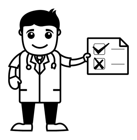medical report: Medical Report - Doctor - Medical Cartoon Characters