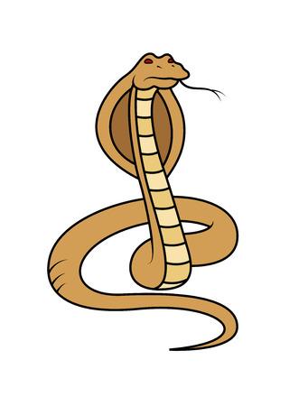 king cobra: Cartoon Snake Illustration