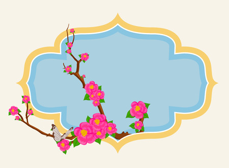 decorative frame: Blossoms Retro Decorative Frame
