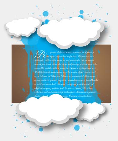 raining background: Grunge Splash Clouds Raining Background