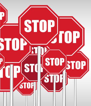 letreros: Antecedentes Detener Letreros Vectores