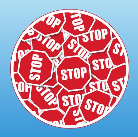signboards: Detener Letreros vector patr�n de fondo