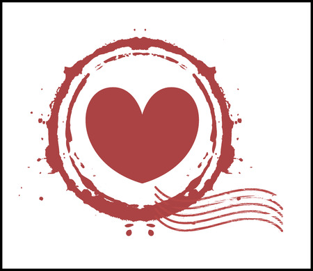 valentine s day background: Grunge Heart Stamp
