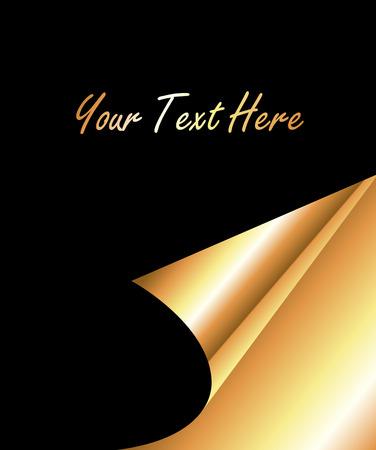papier banner: Goldene gewelltes Papier Banner Vektor