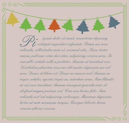 christmas greeting card: Christmas Greeting Card Vector Illustration