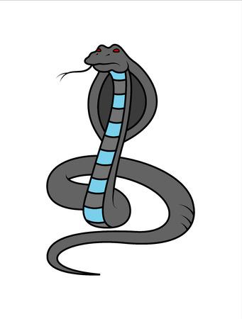 king cobra: Cartoon King Cobra Snake