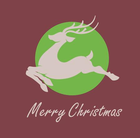 reindeer silhouette: Christmas Reindeer Silhouette
