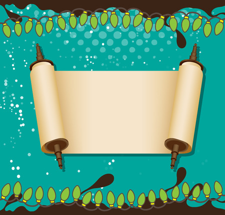 scroll: Parchment Scroll Banner Vector Illustration