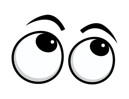 Girar los ojos Ojos de la historieta Foto de archivo - 38542642