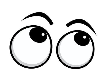 occhi tristi: Occhi fuori orbita Cartoon Eyes Vettoriali