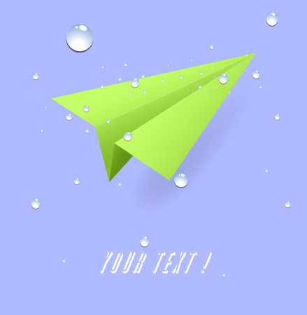 paper plane: Paper Plane with Drops Vector