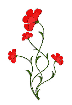 Rode bloemen Vector