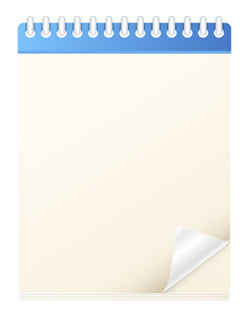 turn of the year: Blank Notebook Diary Vector