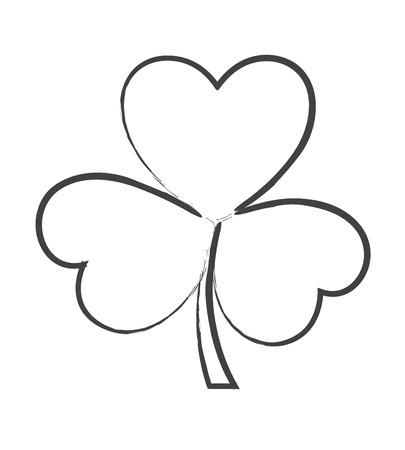 clover leaf shape: Shamrock Leaf Drawing