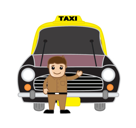 inviting: Taxi Driver Inviting Customers