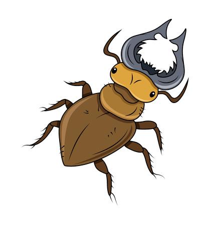 dangerous: Cartoon Dangerous Insect Vector