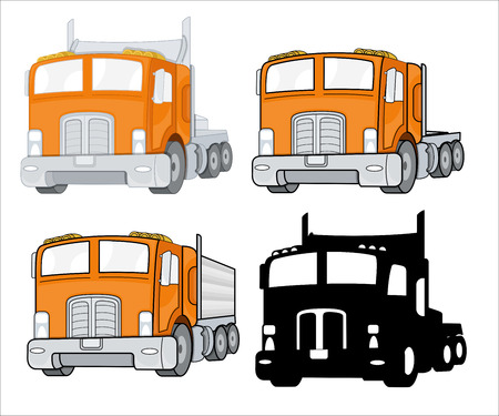 fire brigade: Transport Trucks Vector Designs