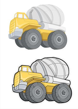 concrete mixer: Concrete Mixer Trucks Vector Designs