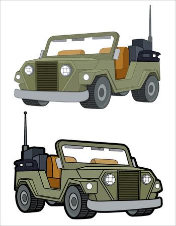 jeep: Open Jeep Vehicles Vectors Illustration